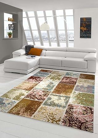 Designer Teppich Moderner Teppich Wollteppich Patchwork Teppich mit ...