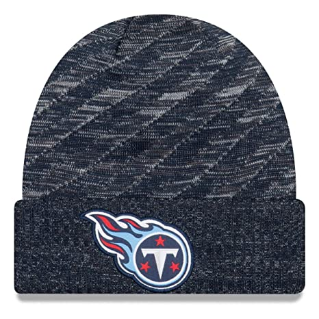 4debbb50627 Image Unavailable. Image not available for. Color  New Era Tennessee Titans  Beanie NFL 2018 On Field TD Knit Cap ...