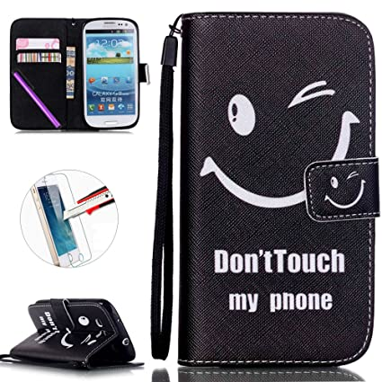 reputable site 4664c 0a7b1 Samsung Galaxy S3 i9300 Case, ISADENSER PU Leather Case Cover Flip Wallet  Card Holder Bags Magnet Design Built-in Credit Card Slot Flip Case Cover  for ...