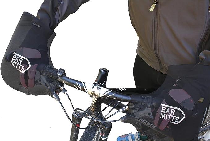 Bar Mitts Mountain Commuter Pogie Handlebar Mitten for Bar Ends XL Black for sale online