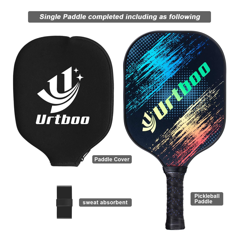 Amazon.com : Urtboo Pickleball Paddle, Graphite Face Honeycomb Composite Core Low Edge Guard Premium Grip Light Weight 7oz-8 OZ Pickleball Racket Good ...