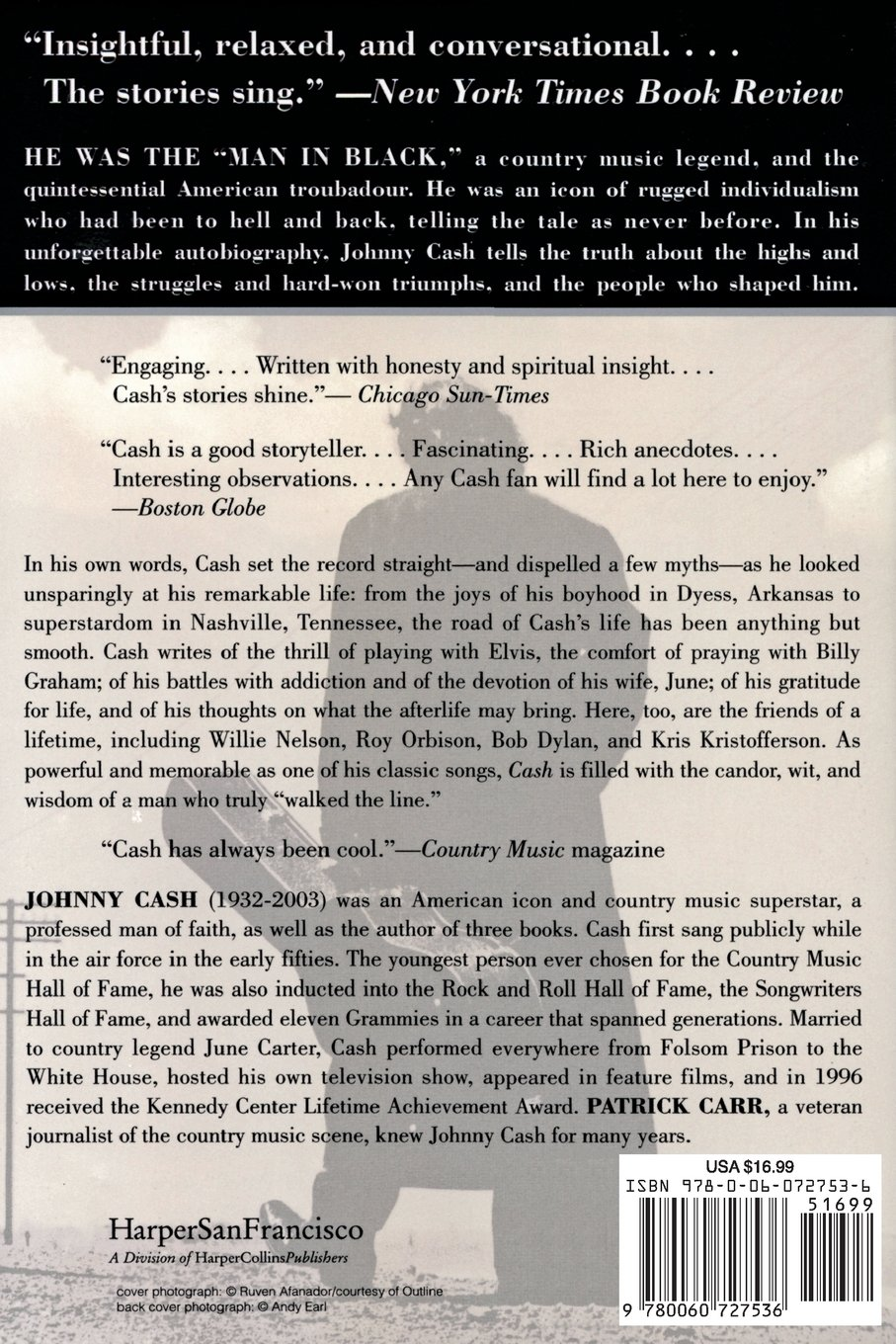 Cash The Autobiography Johnny Cash 9780060727536 Amazon Books