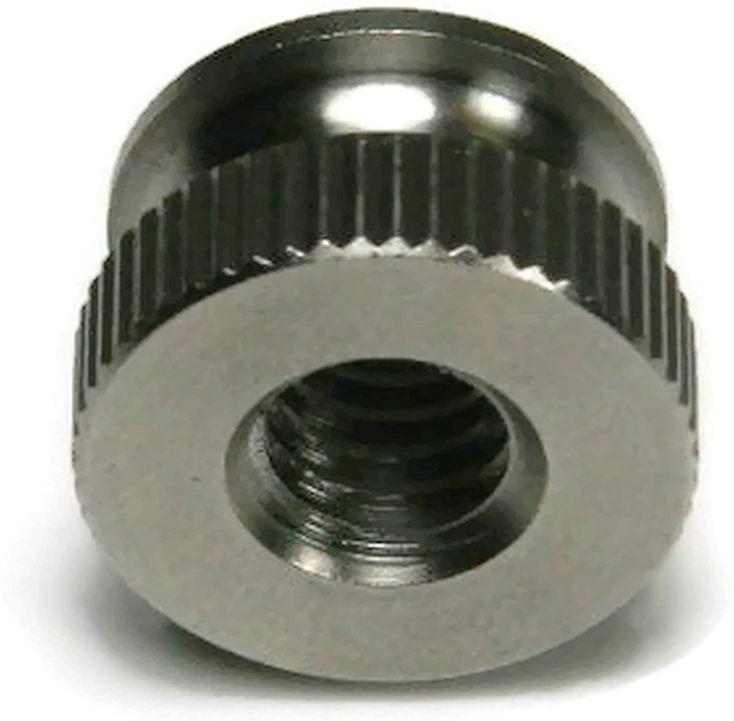 - Qty-10 1//2 Dia x 21//64 THK #10-24 Knurled Head Thumb Nut 18-8 Stainless Steel Nuts USA Made