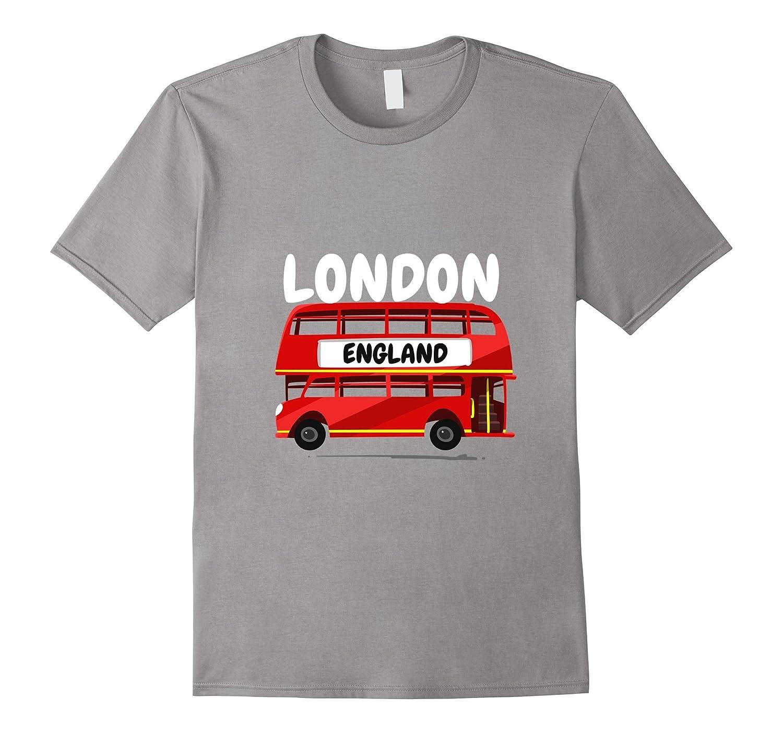 Great Britain British UK London Double Decker Bus T-shirt-Vaci