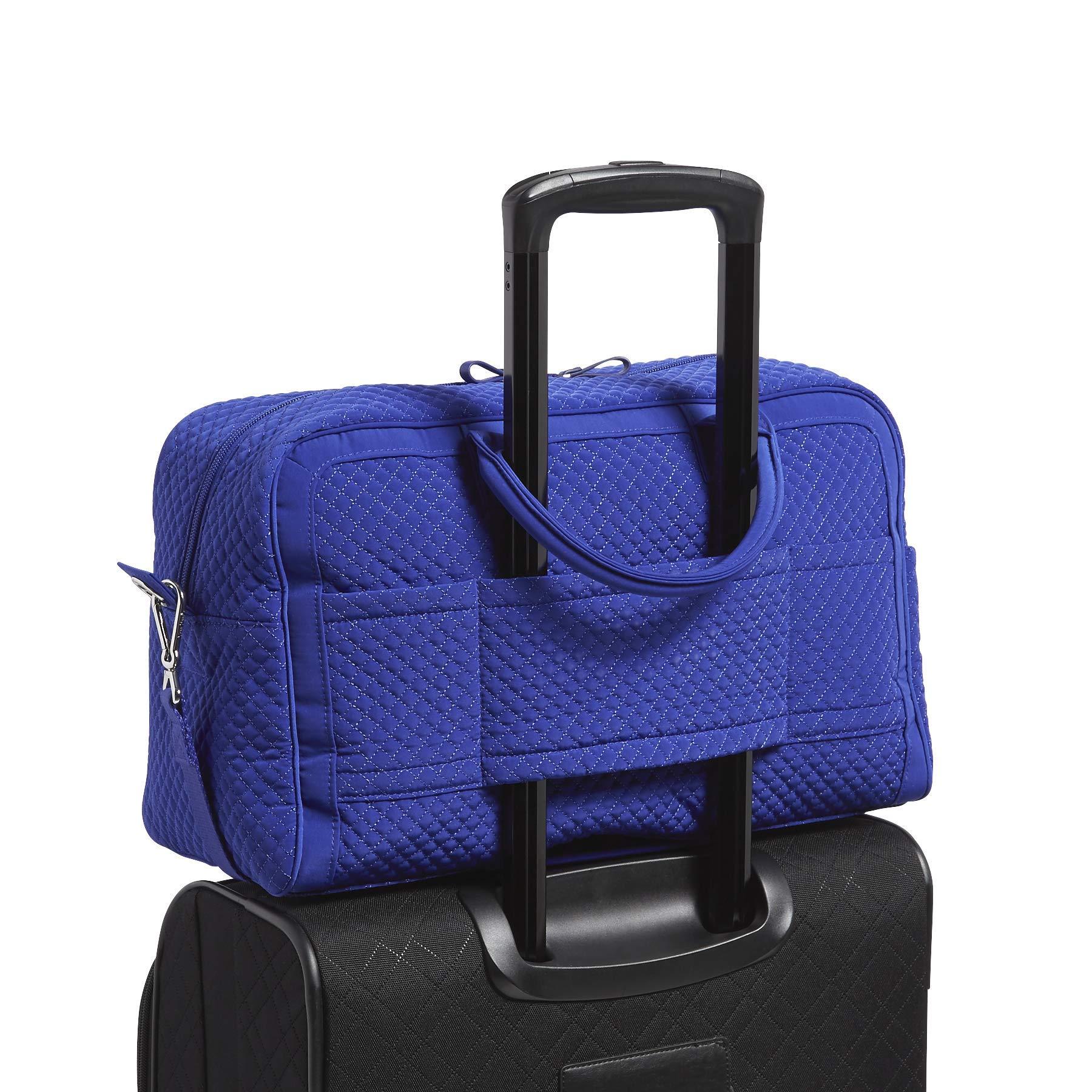 Vera Bradley Iconic Compact Weekender Travel Bag Vera,  gage Blue, One Size by Vera Bradley (Image #4)