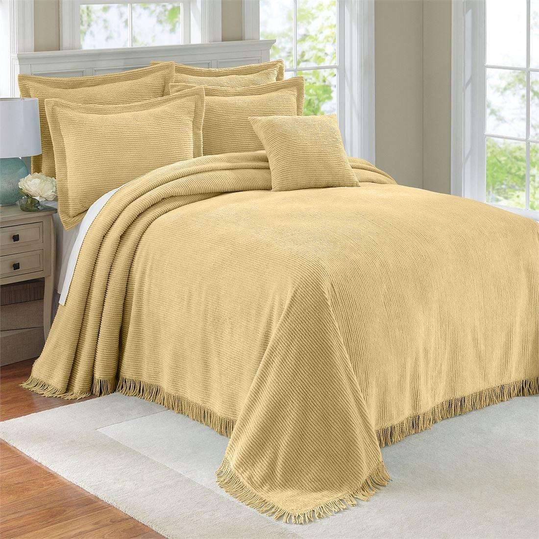 amazoncom brylanehome cotton chenille bedspread buttertwin home u0026 kitchen - Chenille Bedspreads