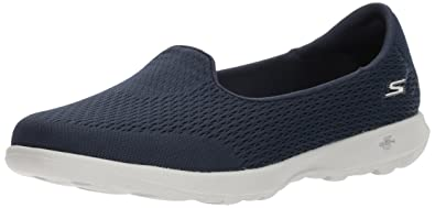 Skechers Damen Go Walk Lite Slip on Sneaker, Schwarz (Black/Grey), 37.5 EU
