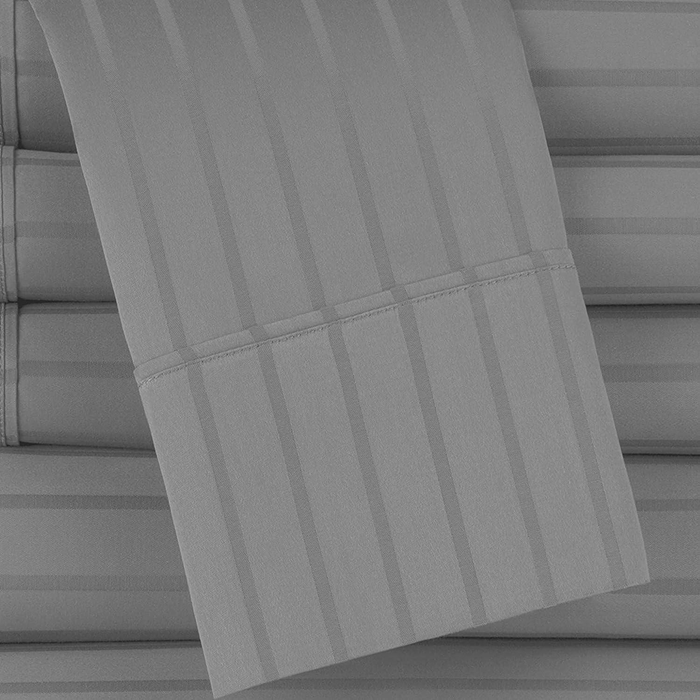 Baltic Linen 420TC Dobby Stripe 2pc Pillow Case Set Standard Aqua