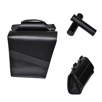 KTBike Carbono negro SET (3 piezas) bolsa de soporte trasero ...