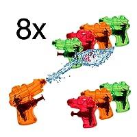 8x Mini Klein Wasserpistole Wasserspritzpistolen Wasserpistole Spritzpistole Wassergewehr für Kinder als Mitgebsel, Kindergeburtstag, Giveaway, give aways Mitbringsel für Jungen und Mädchen