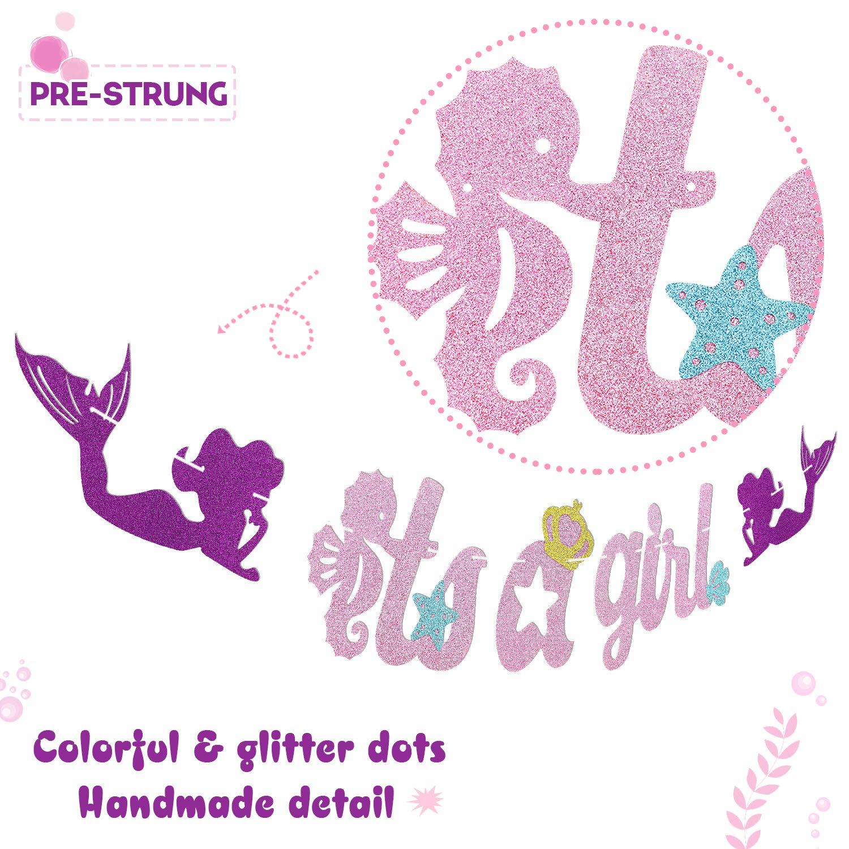 Amazon.com: Cartel con diseño de sirena para fiestas de ...