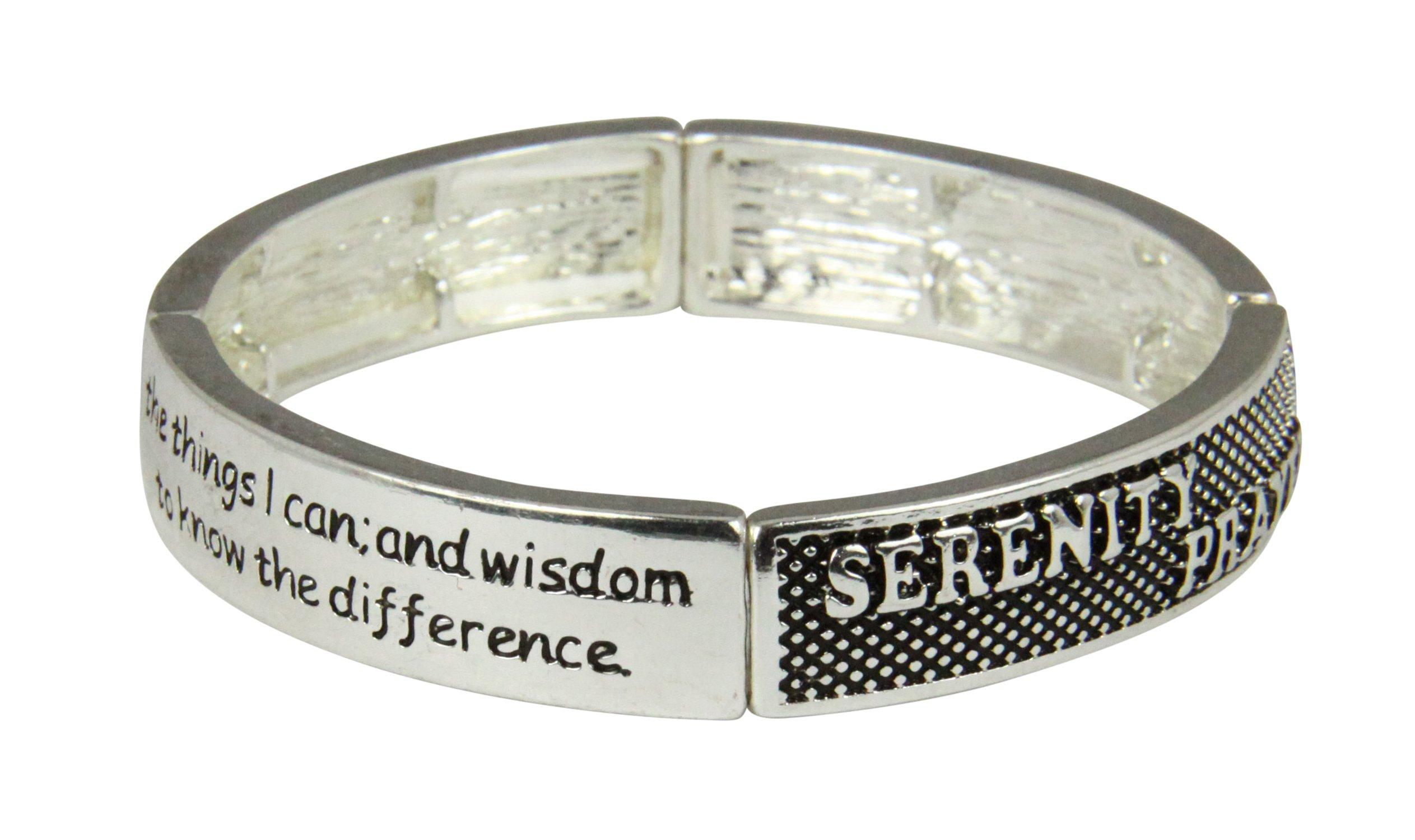 4030393 Serenity Prayer Stretch Bracelet God Grant Me AA Prayer Friend of Bill W