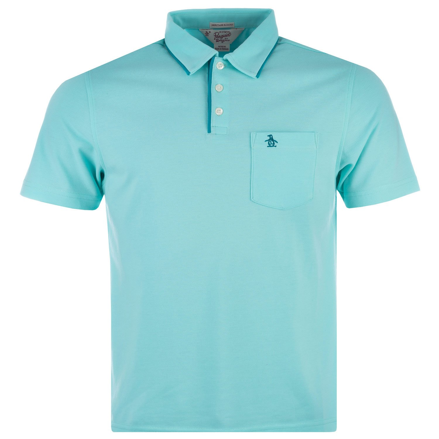 Original Penguin - Polo - para hombre Turquesa agua Large: Amazon ...