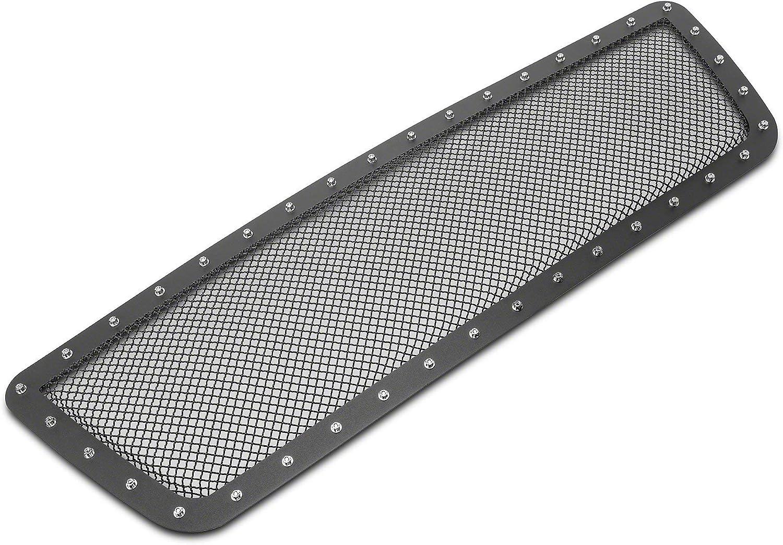 Black Excluding Raptor Rivets /& LED Lighting Modern Billet Wire Mesh Upper Grille Insert with Frame 2015-2017 for F-150