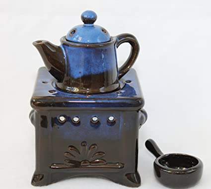 Quemador de esencias de cocina 16 x 10 mm con diseño de sartenes, cerámica