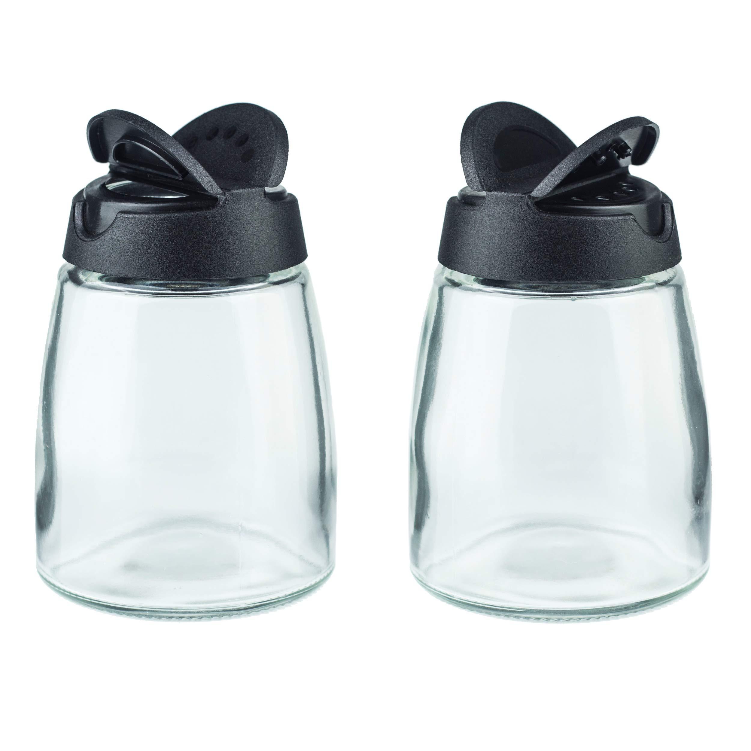 Salt & Pepper Shakers, Moisture-Proof Condiment holders, 2/pack by MILEKE