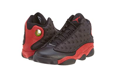 official photos fa980 fcab8 usa nike mens air jordan retro 13quot bred black varsity red suede  basketball shoes size 58f63
