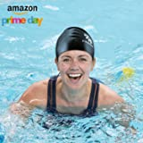 Padida Swimming Cap for Long Hair Women Silicone Waterproof Swim Cap Keep Average & Large Head Dry with Thick, Curly and Braided Hair, Amazing Summer Gift Swimmers Caps