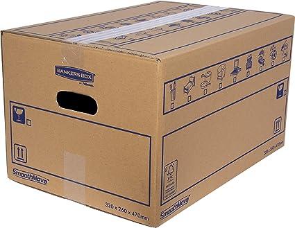 BANKERS BOX SmoothMove Cajas de transporte y mudanza muy ...