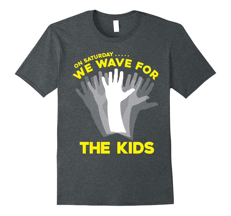 On Saturday, We Wave for the Kids (iowa shirt)-FL