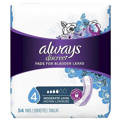 Siempre discreto incontinencia Pads