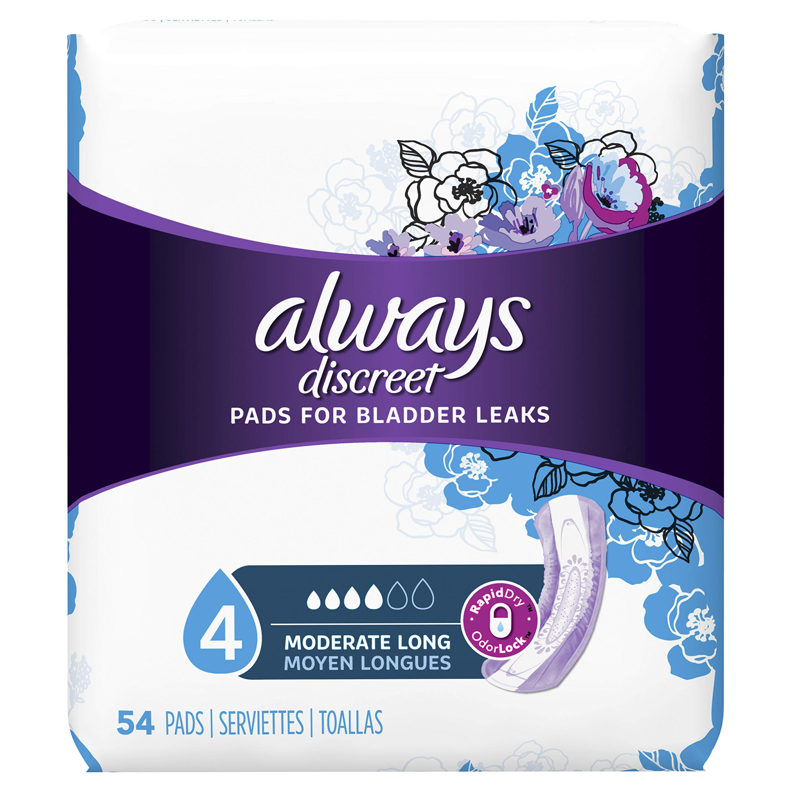 Always Discreet Pads, 54ct