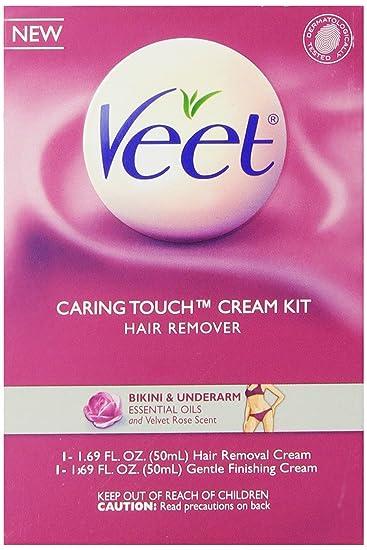 Amazon Com Veet Caring Touch Bikini And Underarm Hair Remover Cream