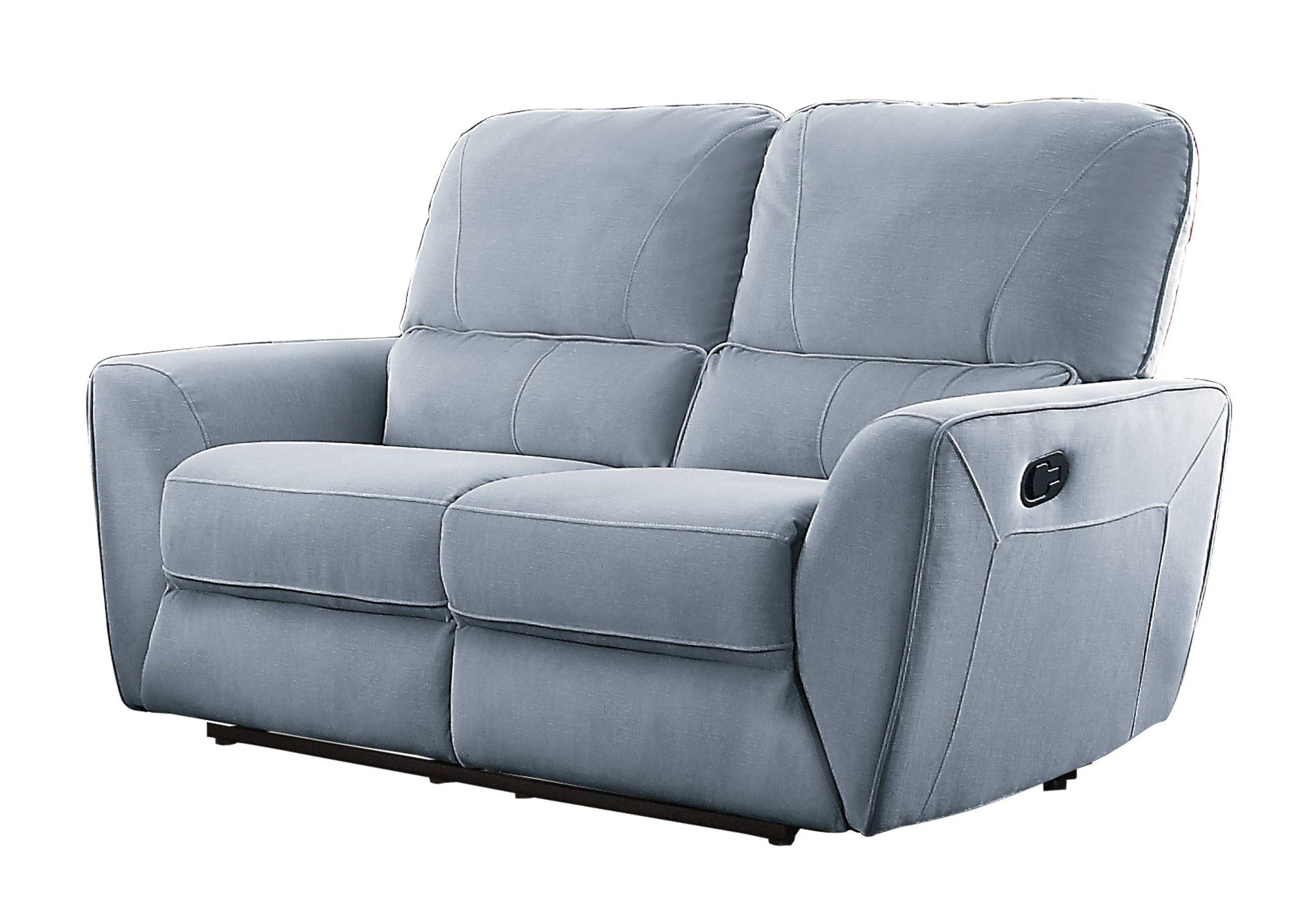 Homelegance Dowling 63'' Fabric Upholstered Reclining Loveseat, Gray