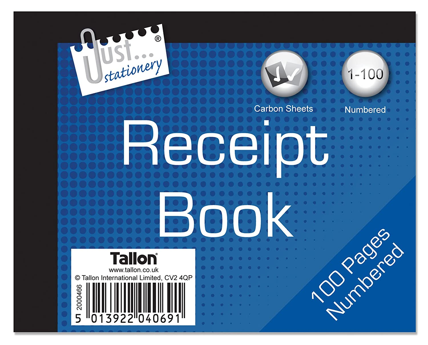 just stationery receipt book amazon co uk office products