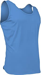 product image for PT-903-CB Men's Athletic Performance Single Ply Light Weight Track Singlet (Medium, Columbia)