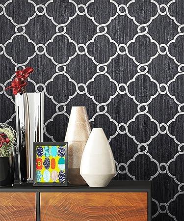 Lieblich NEWROOM Barocktapete Tapete Schwarz Ornament Barock Vliestapete Vlies  Moderne Design Optik Barocktapete Wohnzimmer Glamour Inkl.
