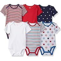 Amazon Essentials Baby 6-Pack Short-Sleeve Bodysuit