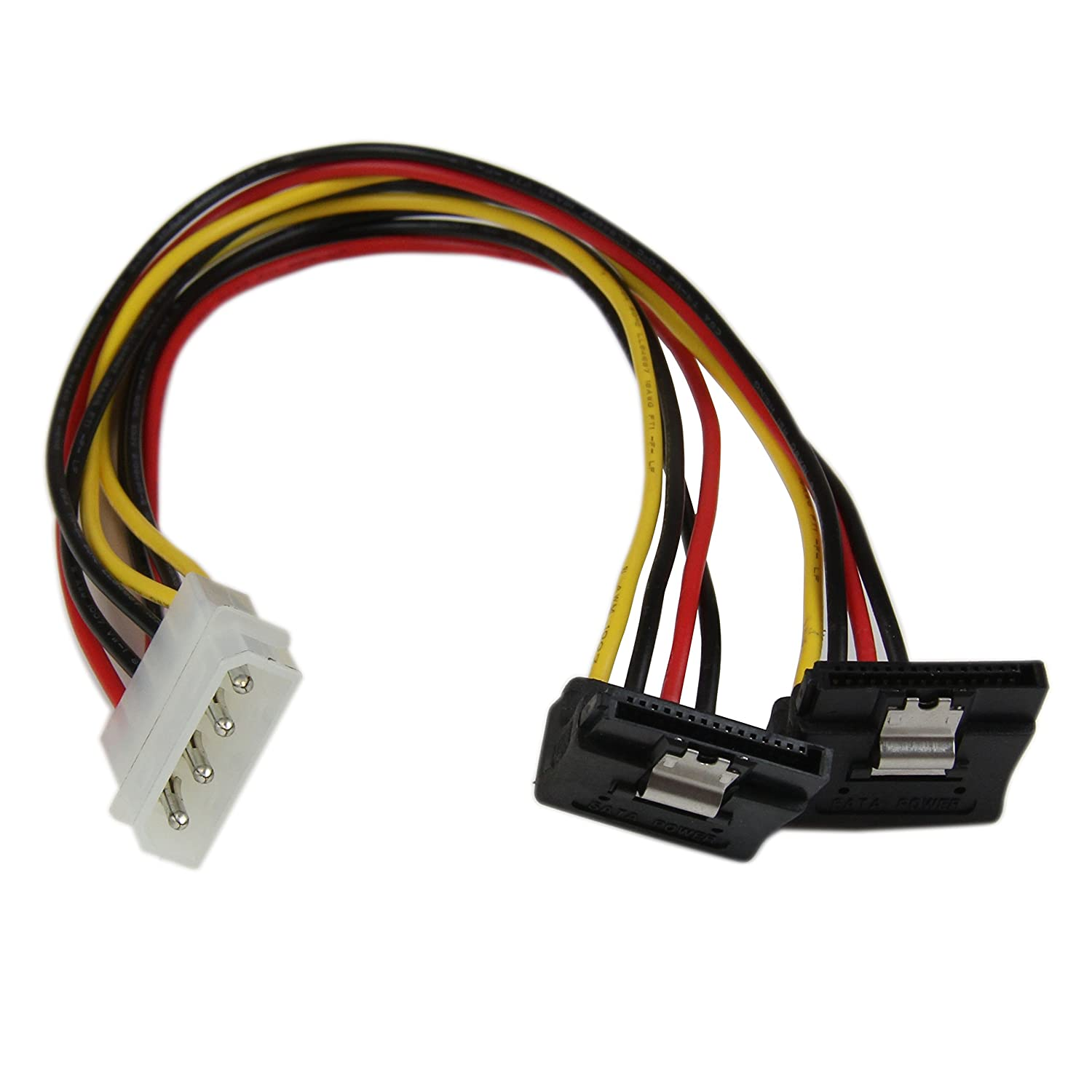 SATA Female to Molex Male Power Cable 12 inch SATA to LP4 Power Adapter LP4SATAFM12 StarTech.com 12in SATA to Molex LP4 Power Cable Adapter F//M