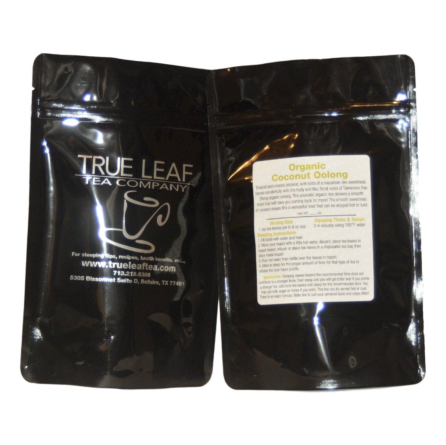 True Leaf Tea Organic Coconut Oolong Tea 8 OZ