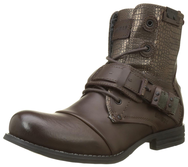 BUNKER Herren Sozo Combat Boots, schwarz Braun (Moro Lu2)