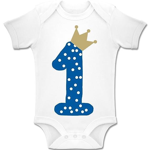 1er cumpleaños Corona niño Bebé Body Manga Corta
