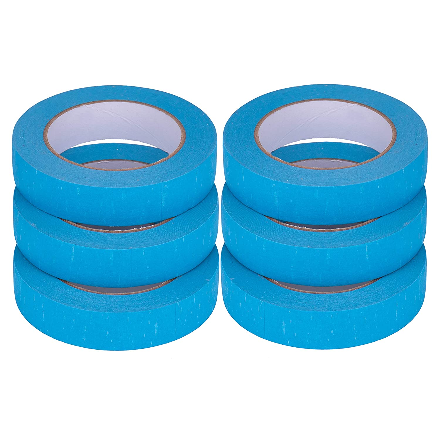 Wall Safe Blue Painters Tape Limited EDITITION Tape Floor No Rip or Residue Car 2 Marker 6 Pack 14 Day Removable Tool Floor Safe- Artist Packing Paint Tape for Tiles