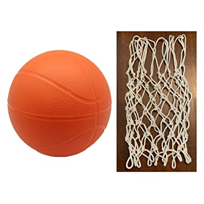 BTF Play Toddler Kids Replacement Net & Basketball 1 Pack (1 Ball, Orange): Toys & Games
