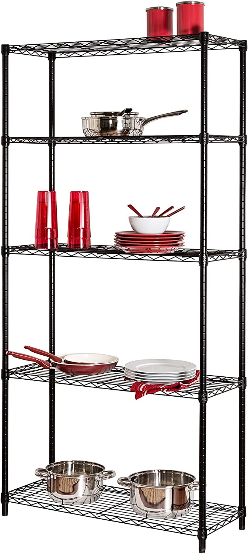 Honey-Can-Do SHF-01442 Storage Shelving, 5-Tier, Black: Home & Kitchen
