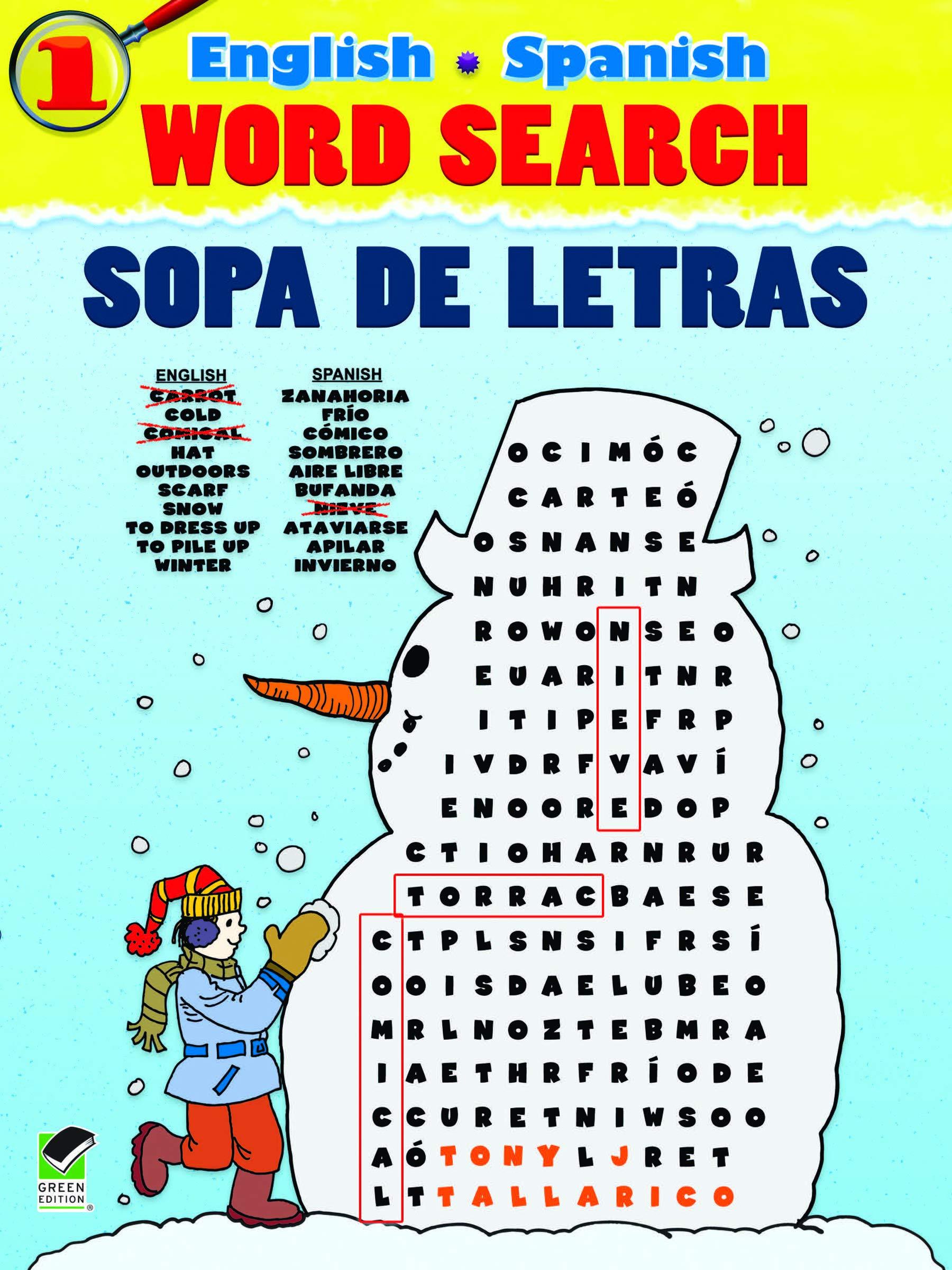 English-Spanish Word Search Sopa de Letras #1 (Dover Children's Language Activity Books)