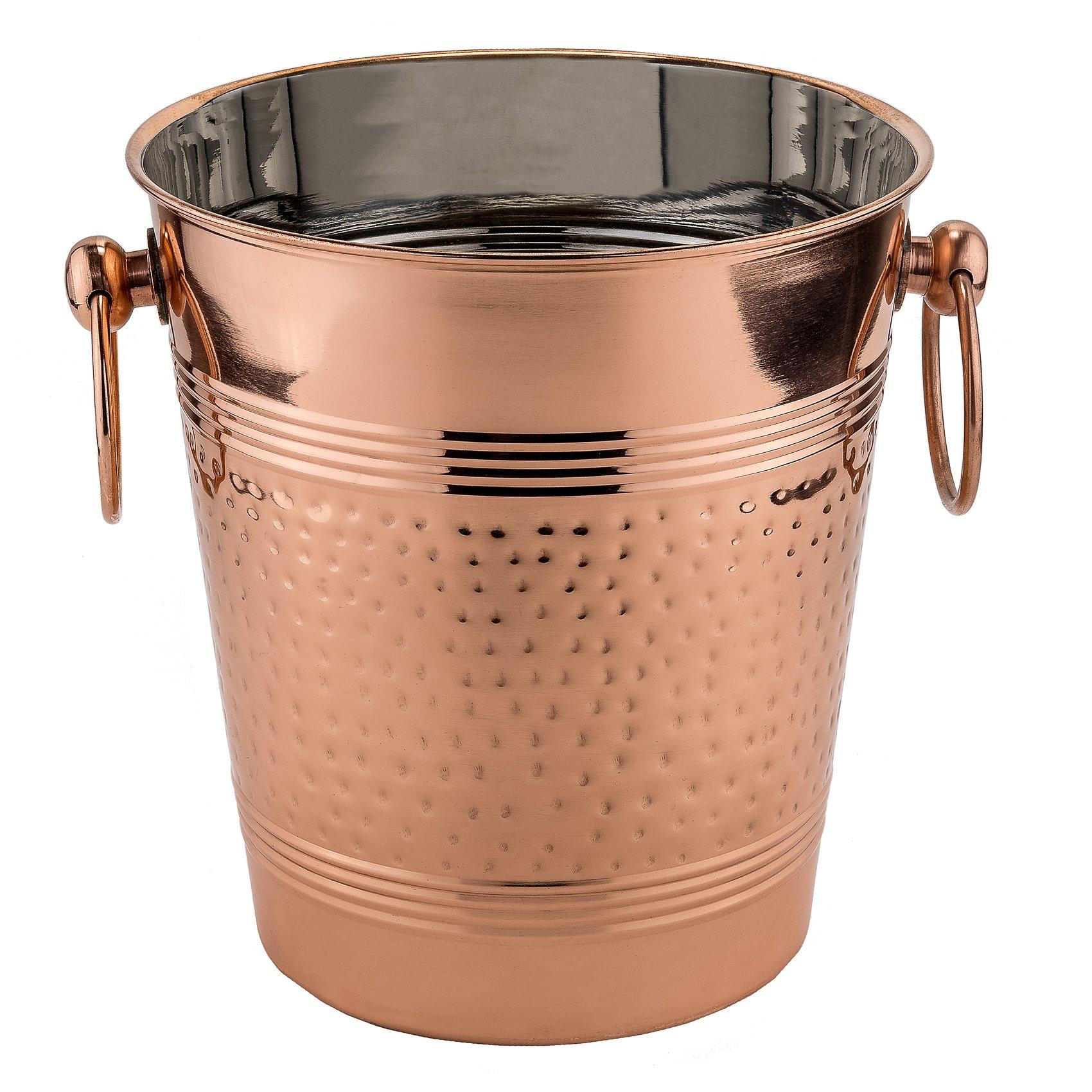 Old Dutch 1104 ''Fez'' Decor Copper Hammered Wine Cooler, Copper 9.25'' x 8'' x 8.25''