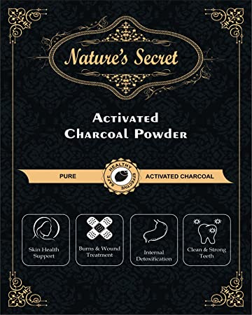 9819e9d1af4bb5 Buy Nature s Secret Activated Charcoal Fine Powder (From Coconut Shell)  (100) Online at Low Prices in India - Amazon.in