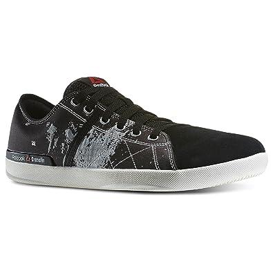 a365de63d302 Reebok Mens Crossfit Lite Lo TR Jaquard Fitness Shoe Black White Chalk Neon  Cherry