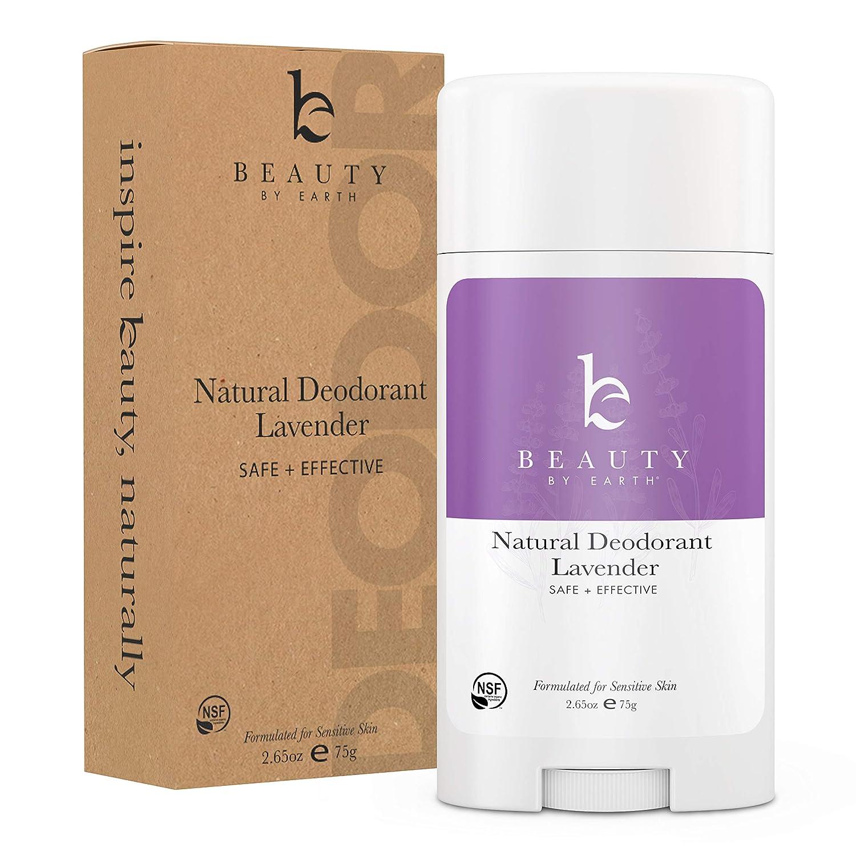 Natural Deodorant Lavender - Organic Deodorant for Women, Aluminum Free All Natural Deodorants for Women and Mens Deodorant, Vegan Womens Deodorant Sensitive Skin, Travel Deodorant, 2.65oz Tube