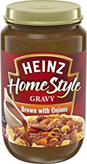 product image for Heinz Home-style Brown Gravy with Onions, 12 oz Jar.