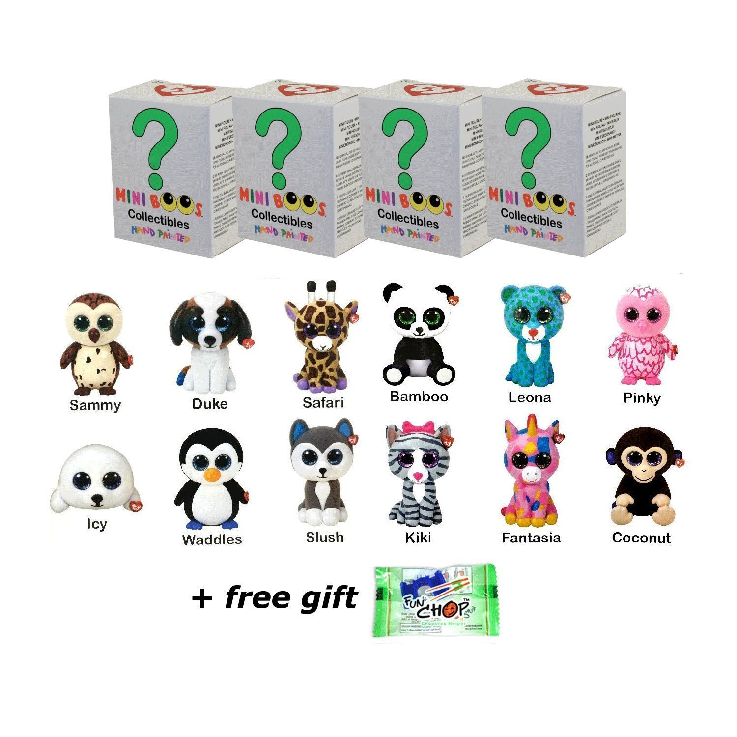 Amazon.com  Set of 4 Ty Mini Boos Hand Painted Collectible Figurines Series  1 Blind Box (free gift with purchase)  Toys   Games cbab829c649