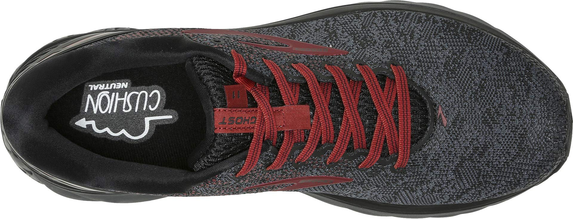 Brooks Men's Ghost 11 Black/White/Merlot 15 D US by Brooks (Image #1)