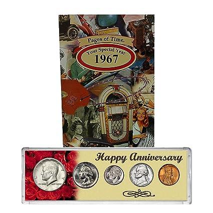 Año de 1967 moneda Set & Tarjeta de felicitación: 50th ...