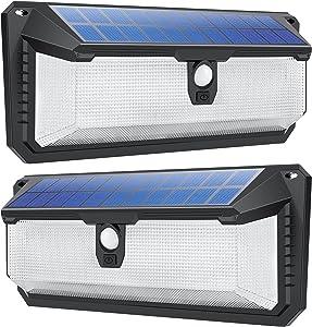 288 LED Outdoor Solar Lights, FOYSEM Solar Motion Sensor Lights Security Lights Motion Outdoor with 270° Wide Angle IP65 Waterproof Wireless Solar Wall Light for Garden Porch Fence Garage Deck (2PACK)
