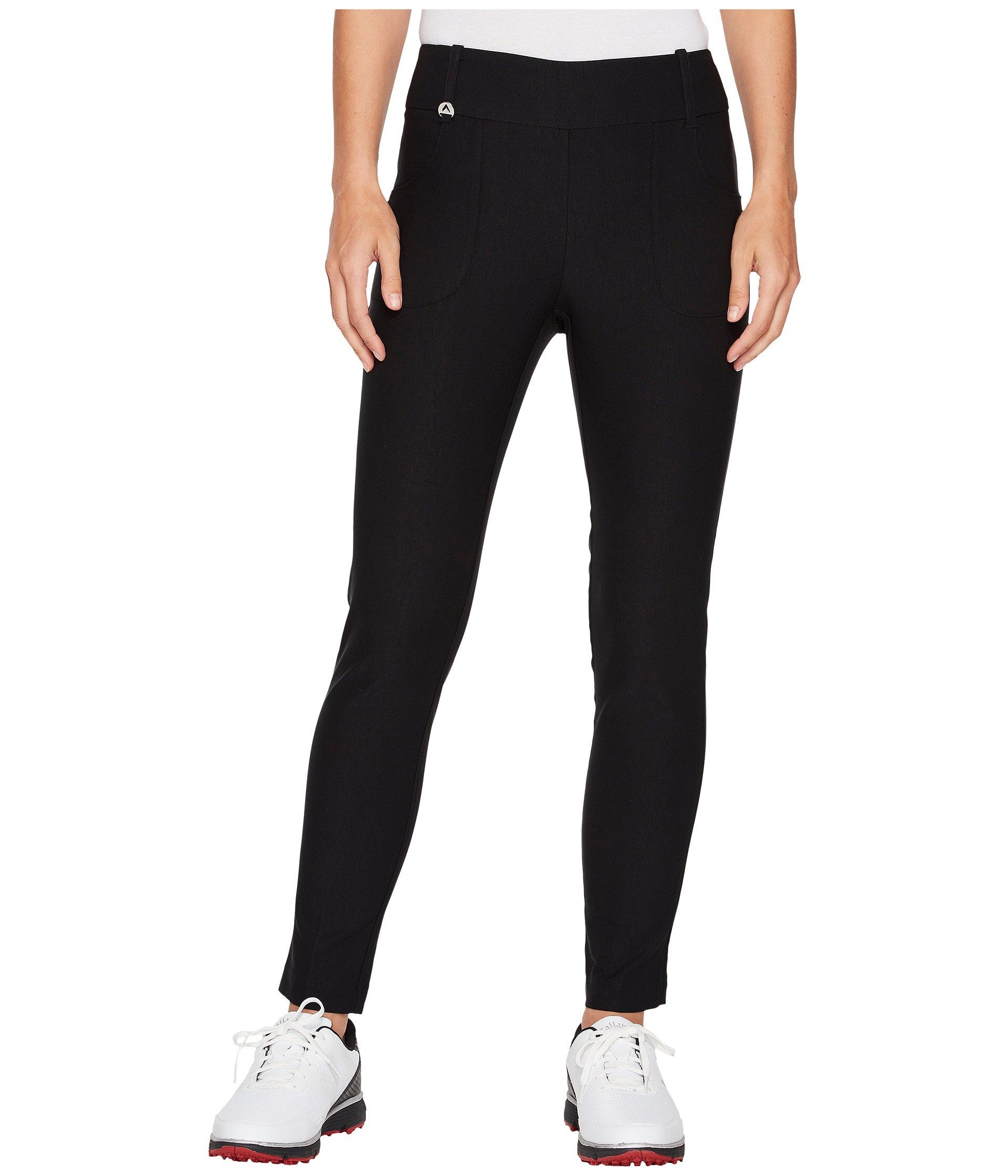 Callaway Women's Stretch Tech Pull-on Golf Trouser, Caviar, X-Small with 29'' Inseam by Callaway